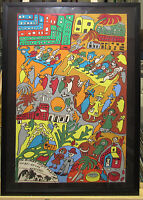 Isabel de las Mercedes Naive Cuba Gouache Ptg Listed Cuban Camaguey Folk Artist