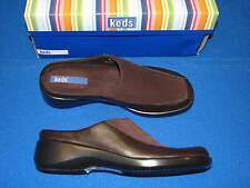 6 M Keds Brown Ladies Shoes Womens Mules Slipons Slides Carroll Fabric Mesh 6M