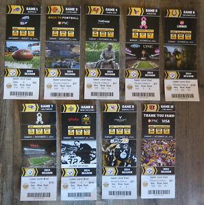 Pittsburgh Steelers 2014 Ticket stub lot Complete set including 1 preseason!!