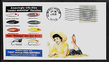 1930s Heddon Fishing Lures Featured on Collector's Envelope *A327