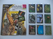 PANINI ANIMAL CHAMPIONS NATIONAL GEOGRAPHIC SET ALBUM EMPTY + 198 STICKERS