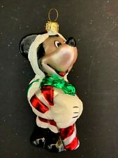 1996 Kurt S. Adler Polonaise Collection Mickey Mouse Glass Christmas Ornament
