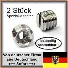 2 Stk. Spezial Gewindeadapter für Stative 1/4 Zoll auf 3/8 Zoll für Profi-Geräte
