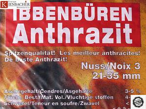 Anthrazit Nuss 3 Heizprofi 25kg Premium Steinkohle Ibbenbüren Kohle Union