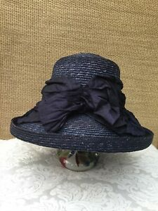 Vintage Hat Box By Debenhams 100% Straw Hat Weddings, Day At The Horse Racing