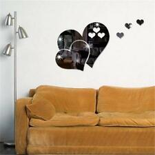 3D Heart Mirror Wall Stickers Decal DIY Art Removable Room Decoration