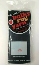 Red Heart Latch Hook Bulky Rug Yarn - 634 Black - 320 Pieces