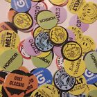 50 Pack MIXED VHS Video Store Rental Stickers .75in PLUS BONUS Tape!