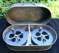 Antique Movie Film Reel to Reel Splicer/Editor in Canister - Editing Equipment
