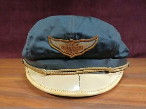 Vintage Original Harley Davidson Motorcycle Marlon Brando Style Size 7 Biker Cap