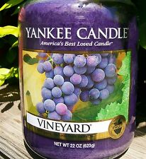 "Yankee Candle ""VINEYARD"" Fruit Scented Large 22 oz ~ WHITE LABEL ~ NEW!"