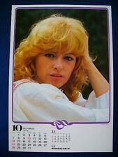 1979 Nathalie Delon Japan VINTAGE calendar POSTER VERY RARE