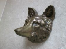More details for victorian  brass fox head wall plaque - william tonks & sons birmingham c.1880