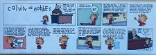 Calvin and Hobbes by Watterson - color Sunday comic page - VFn - Dec. 9, 1990