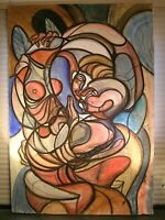 Modernist Large Abstract Painting Expressionist Modern Art