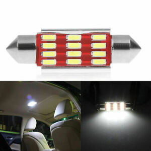 2PCS 39mm 4014 12SMD C5W LED Festoon Dome Car Interior Reading Light Lamp