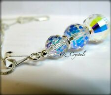 Crystal AB Ball Necklace made with Swarovski & Solid 925 Sterling Silver