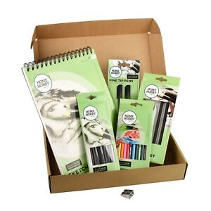66 Piece Sketch Studio Kit Basic Set by HOMEHOBBY Perfect Gift for Artists