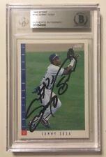 1993 Score Signed SAMMY SOSA Baseball Card #143 BAS Beckett