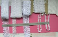 GUIPURE Edge & Insert Lace WHITE 15-73mmWide 2.7, 4 & 5 Metres 5Style Choice LR1
