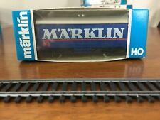 Marklin HO 2450F blue colored Box-Car M*A*RKLIN in Original Box West Germany
