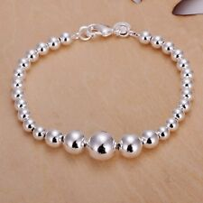 Fashion 925 Silver plated Jewelry Bright Beads Bracelet For Women H165