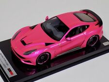 1/18 MEKO Ferrari F12 N-Largo Novitec Rosso in Flash Pink Carbon Base BBR or MR