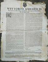 1703 BANDO GUERRA SUCCESSIONE SPAGNOLA PRIGIONIERI PRIMA DEL TRATTATO DI TORINO