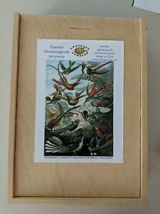 Artifact Puzzles Haeckel Hummingbirds 262 Pieces Wood Wooden