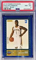 Zion Williamson 2019-20 Panini NBA Sticker & Card Collection Rookie Blue Foil