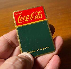 Coca Cola 1940s Salesman Sample Menu Board Sign