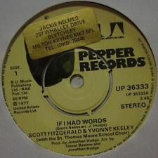 "Scott Fitzgerald & Yvonne Keeley(7"" Vinyl)If I Had Words-Pepper-UK-Ex/VG"