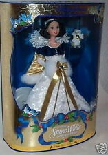 Barbie Doll Holiday Princess Snow White w/Bunny Christmas Ornament Disney 1998