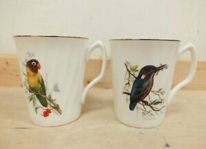 Roy Kirkham Set of 2 Bird Design Mugs Fine Bone China Cups (Hol)