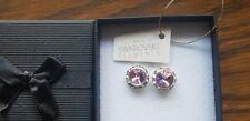 Genuine Swarovski Elements Gift Boxed 13mm Light Rose Pink Crystal Stud Earrings