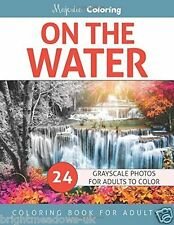 On the Water Greyscale Adult Colouring Book 1 Sided Beautiful Scenes Advanced