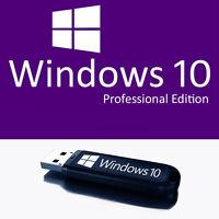 Microsoft Windows 10 Pro 32/64 Bit USB Flash Drive