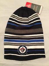 Winnipeg Jets NEW Mens Reebok Knit Winter Slouch Hat . NHL Hockey Cap NWT Gift