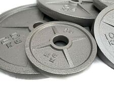Gym Weightlifting Cast Iron Plates (PAIR) 5/10/15/20/25KG FREE UK DELIVERY