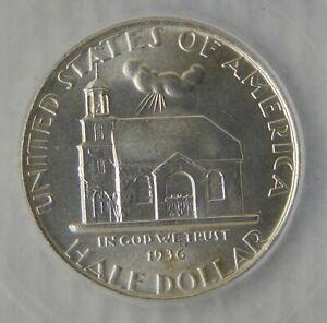 1936 Delaware Commemorative Silver Half Dollar ~ ICG MS65, NICE!!!