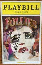 Signed Jan Maxwell (Only) Follies Playbill  Bernadette Peters Elaine Paige 2011