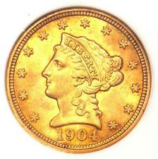1904 Liberty Gold Quarter Eagle $2.50 Coin - NGC MS62 (BU UNC) - Rare Coin!