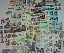 Unused 100 Assorted Mixed Multiples & Singles of 13¢ US Postage Stamps FV $13.00