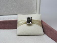 New w/Box Pandora Letter B Sterling Silver Initial Charm #797456 Bead Alphabet
