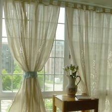 180*255cm Country Lace Crochet Window Curtain Blockout Drape Panel Tab Top