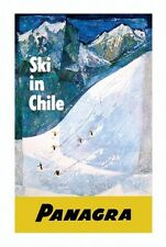 PANAGRA SKI VINTAGE TRAVEL POSTER Chile RARE HOT NEW