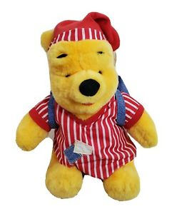 Winnie The Pooh Sleepover Bear With Backpack And Pajamas On Mattel 1998