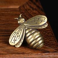 Mini Ornaments Vintage Brass Art Bee Desktop Sculptures Figurines-Statue Decor
