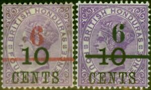 British Honduras 1891 Set of 2 SG43-44 Fine Lightly Mtd Mint