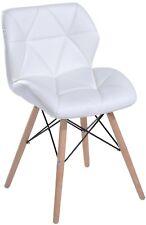 White Leather Cosmetic Stool Chair Modern Design Armchair Desk Vanity Women Gift